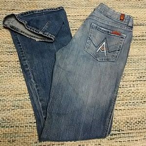 7 For All Mankind A Pocket flare leg jeans size 27